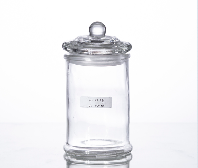 350ML airtight glass storage cansiter for kitchen