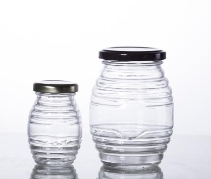 Hex Glass Jar