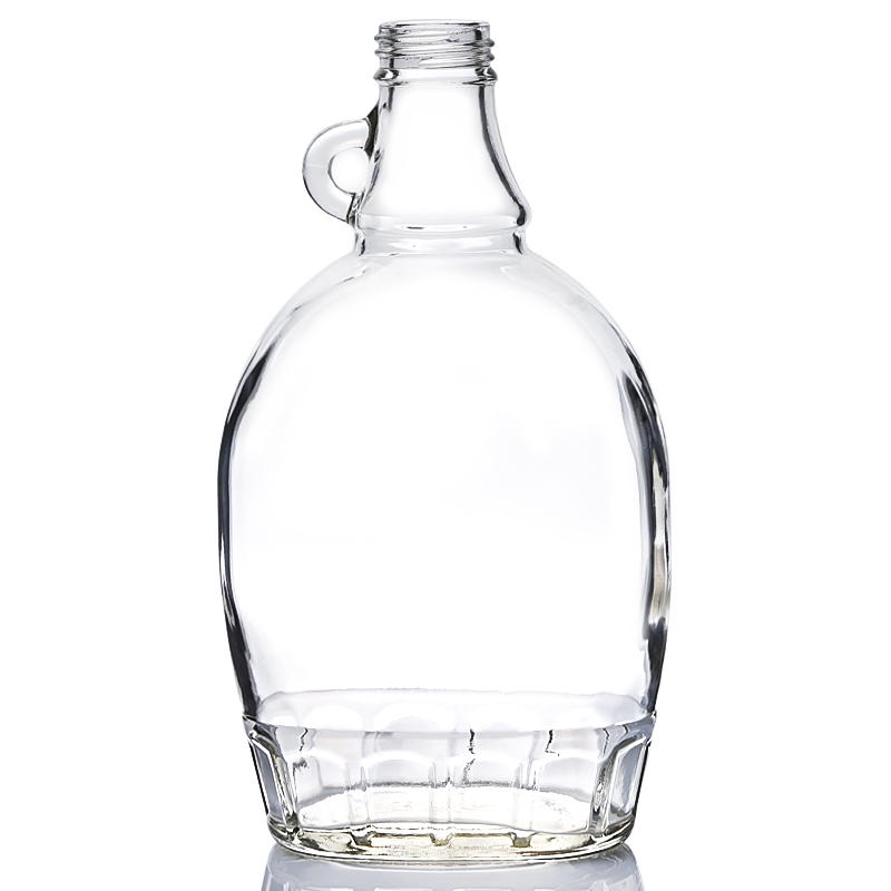 500ML flat glass syrup bottle