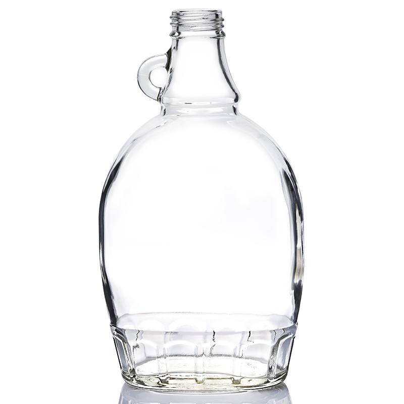500ML flat glass syrup bottle