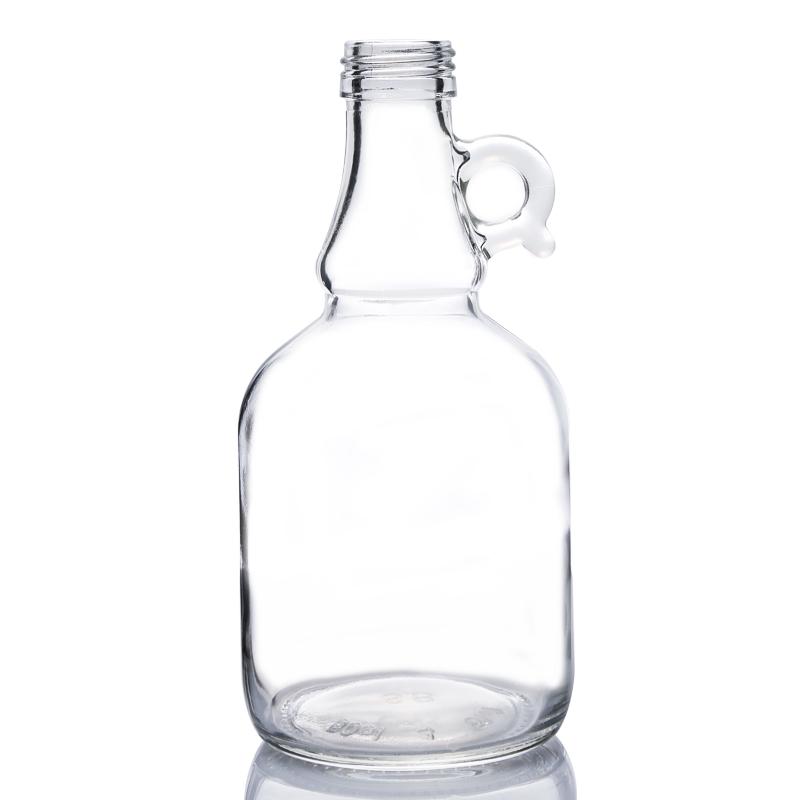 1L round glass water gallon jugs