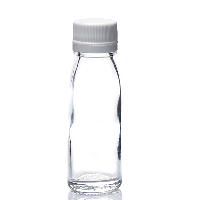 2OZ juice square glass bottle