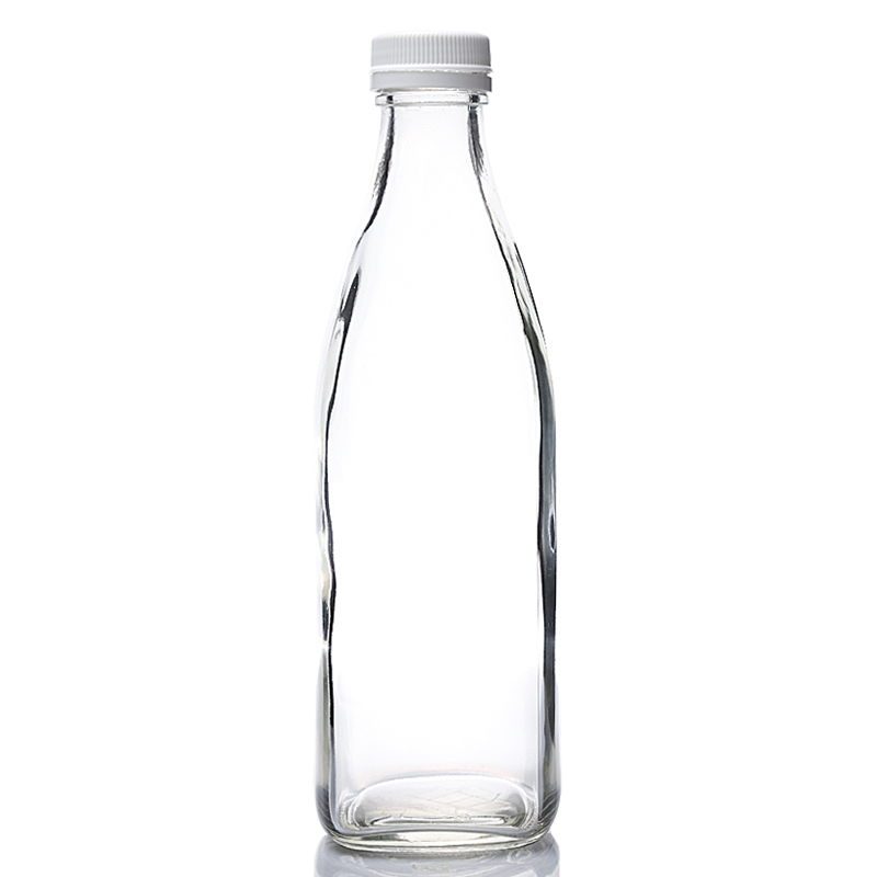 10OZ square glass juice bottle