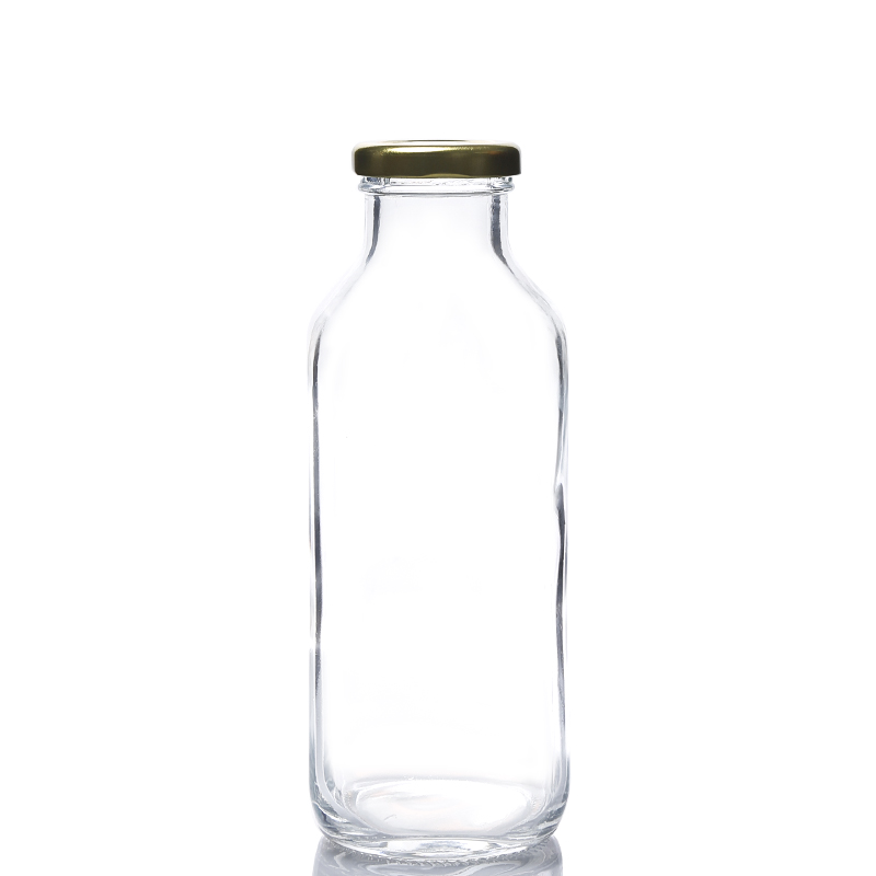 500ML glass beverage square bottle