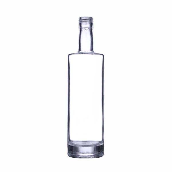 750 mL flint glass st louis oval spirits bar top bottle, 21.5mm