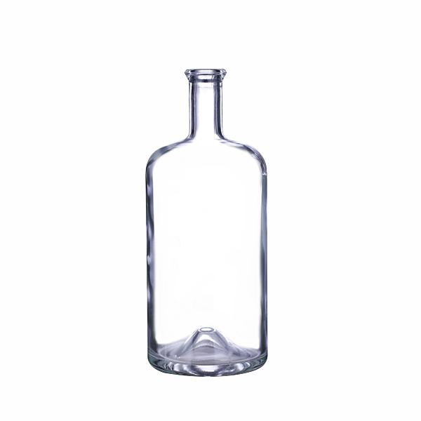 750 ml Clear Glass Juniper Liquor Bottles