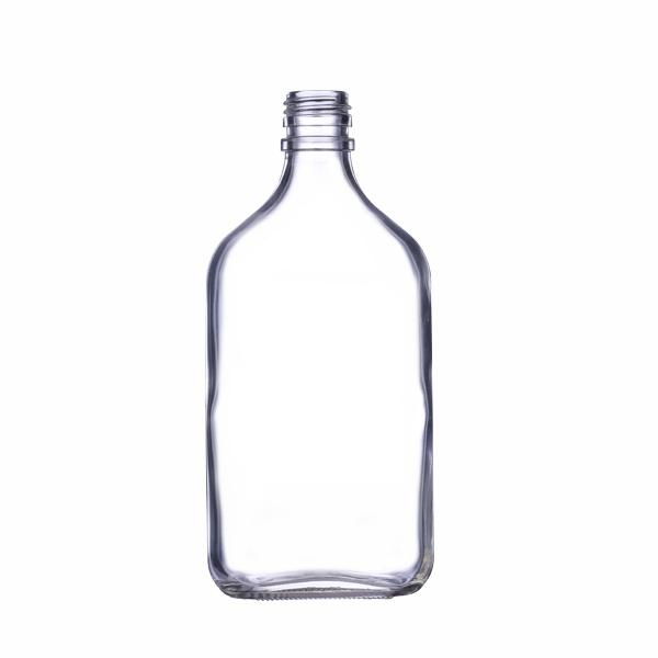 375ml flat flask liquor bottle