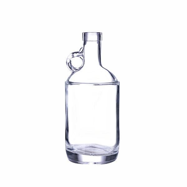 375ml Clear Glass Moonshine Jug with Bar Top