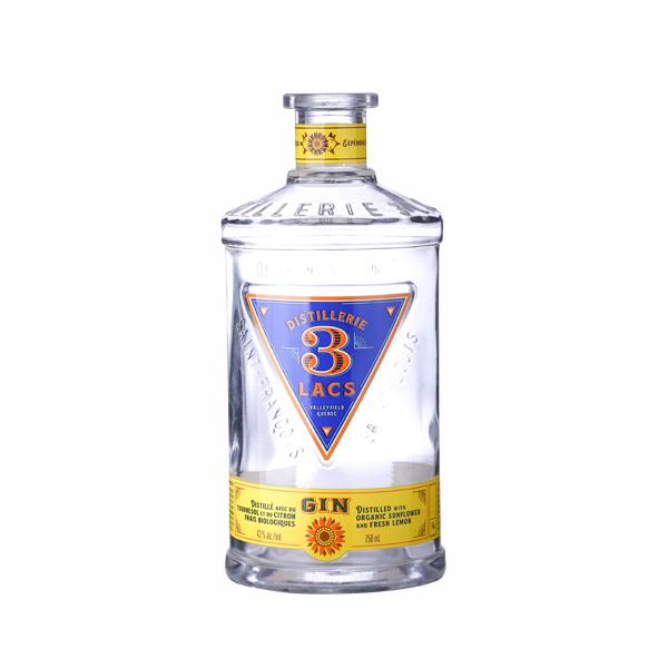 Customized Logo 750ml Distillerie 3 lacs Flint bottle