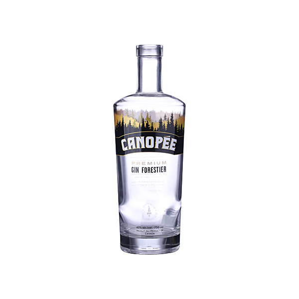 750ml Clear Empty Whiskey Vodka Bottle Glass Liquor With Cork