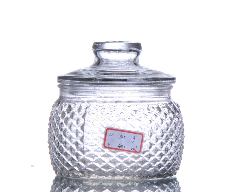 Round Glass Storage Jar With Lid
