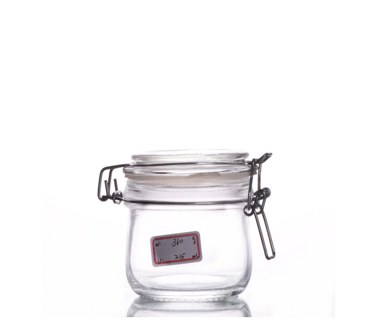 clamp top glass canning jars