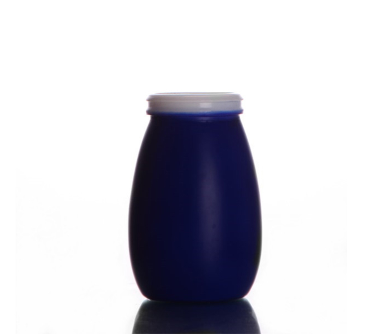 200ML color painted yogurt glass bottle
