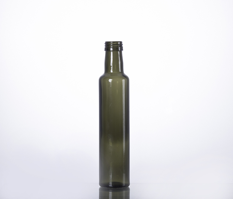 250ml dark green glass bottle