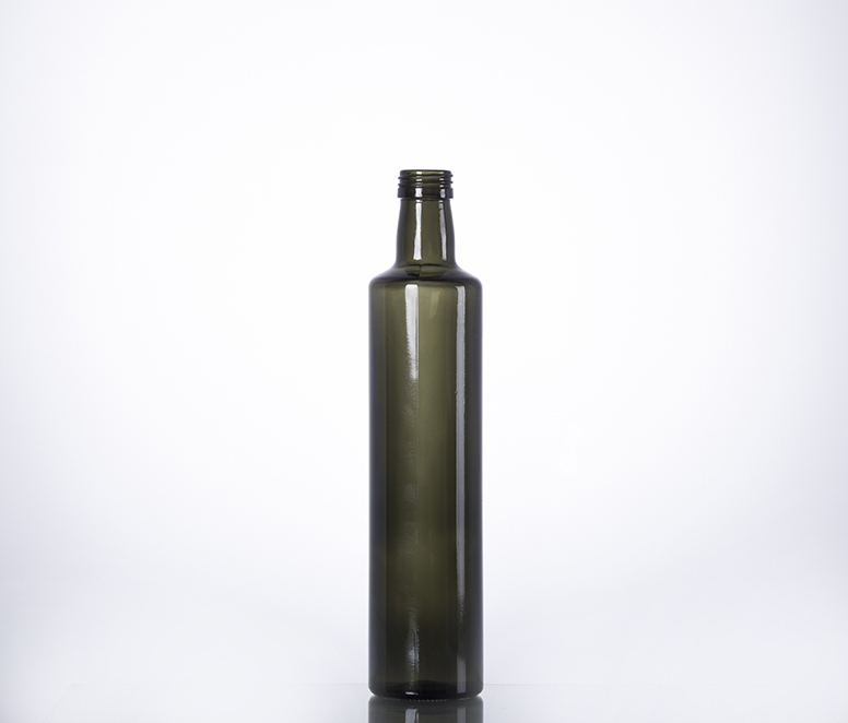 500ml dark green cooking oil glass bottle manufacturer
