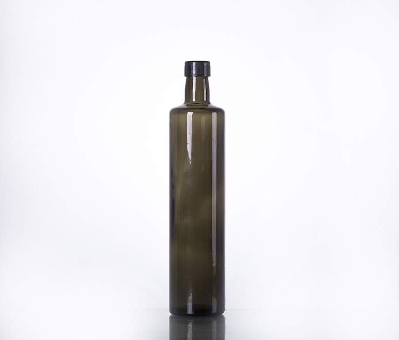 750ML dark green olive oil glass bottle