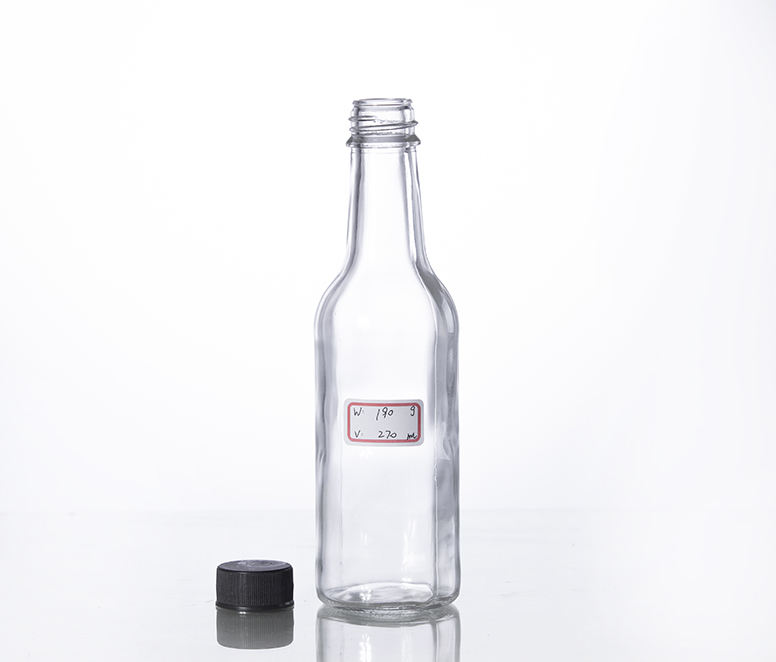 270ml woozy sauce glass bottle