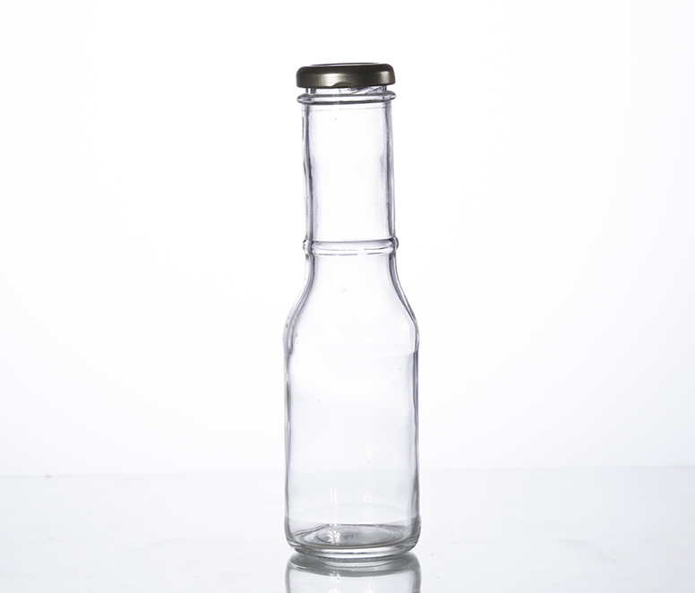 12oz long neck sauce bottle with screw cap