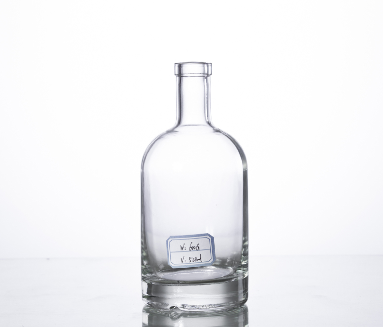 500ML corked glass alcohol bottle thick bottom