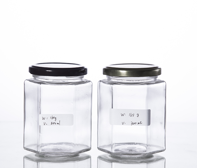 380G gourmet hex jar with TW finish