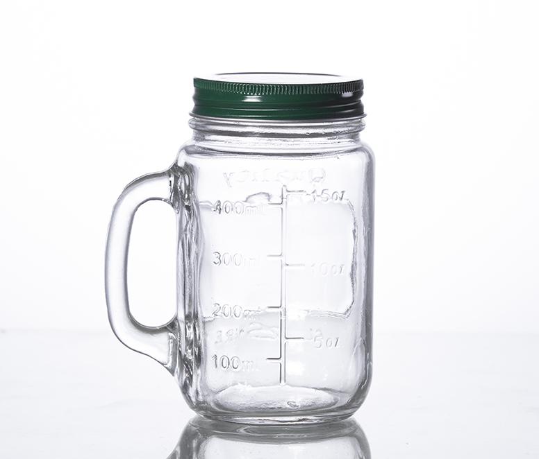500ML disposable juice mason cup