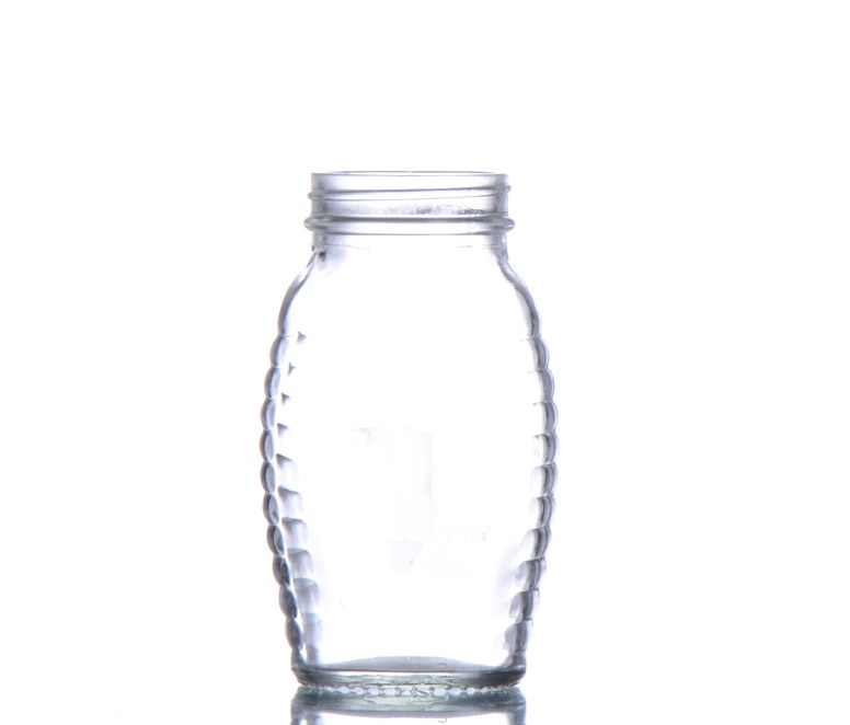 glass food grade honey jar