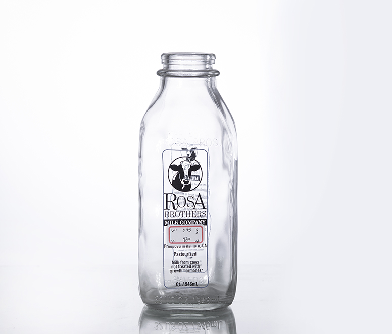 1L traditional vintage milk bottle