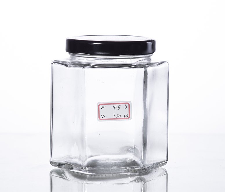 750ML hex canning jar