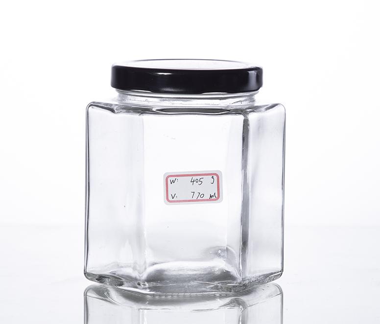750ML hex canning jar