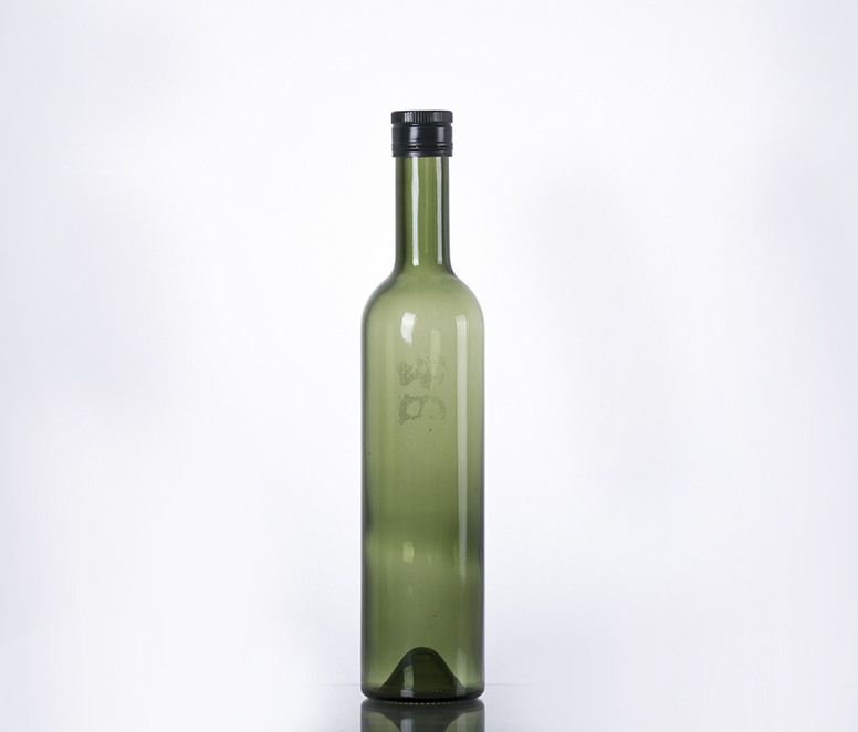 500ML green color whisky bottle with screw cap