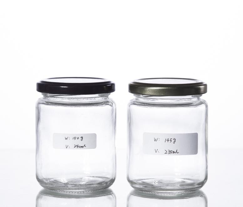 250ML classic round shape jam sauce jar