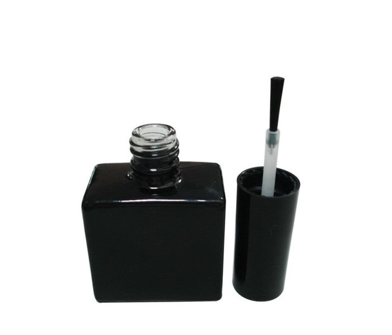 Glass nail polish bottle with brushes