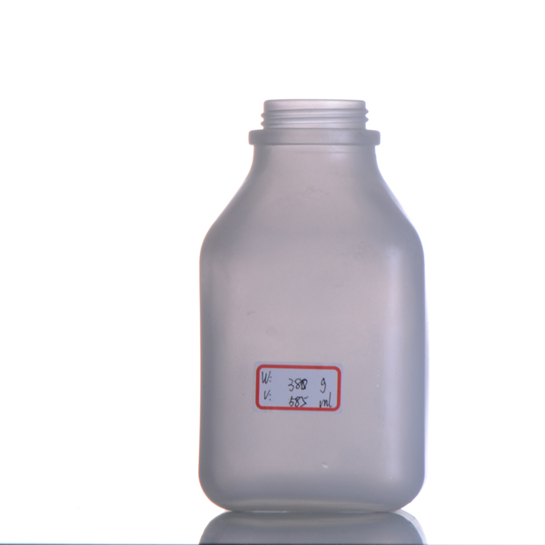 500ml glass dairy milk bottle with cork