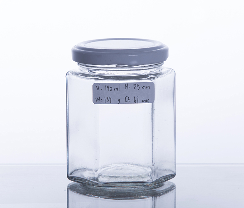 380G Gourmet Hex Honey Jar With TW Finish