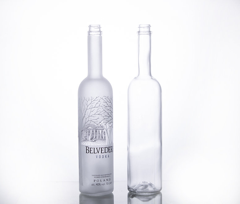 700ML Decalled Vodka Bottle
