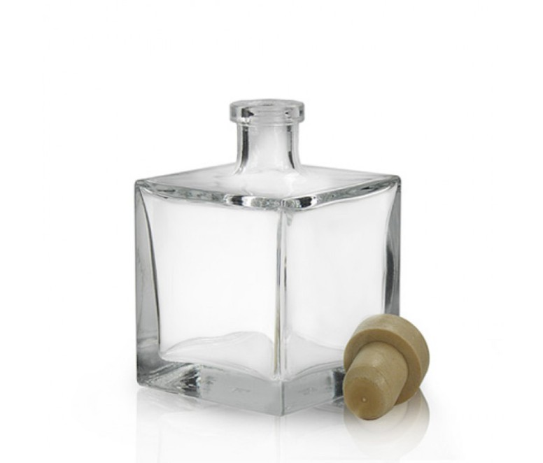 100ml Square Glass Reed Diffuser Bottle