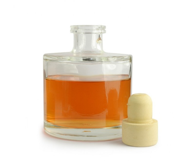180ml Flat Round Glass Reed Diffuser Bottle