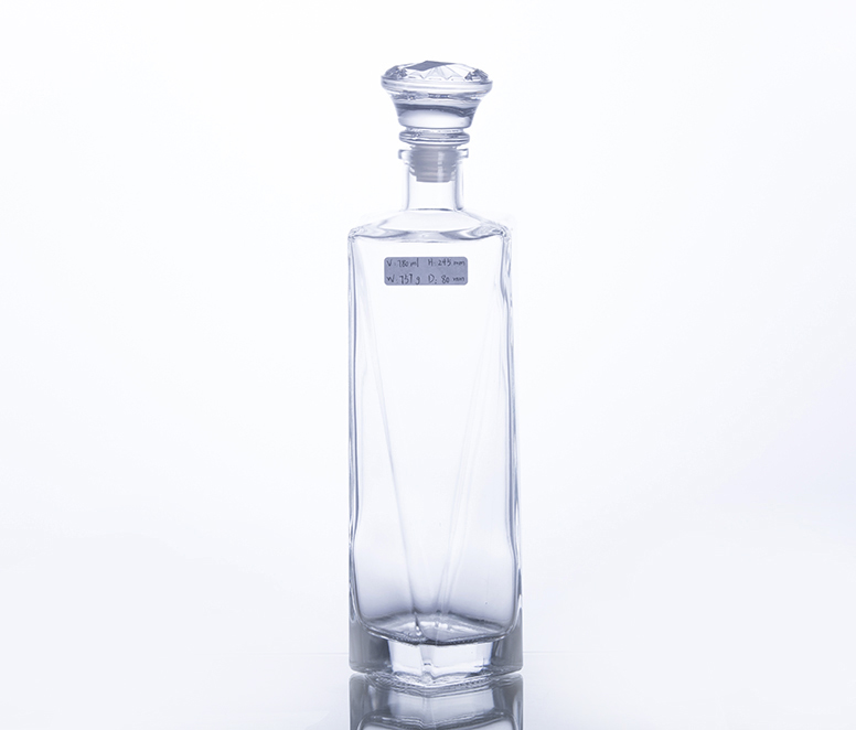 750ML Unique Shape Glass Wine Bottle