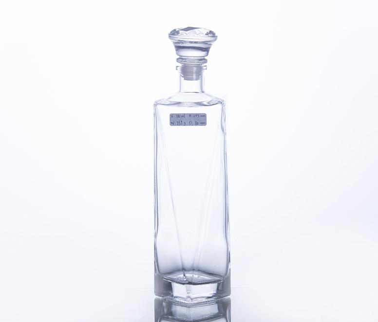 750ML Unique Shape Glass Wine Bottle