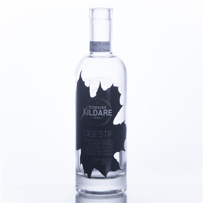 500ML Decorated Screen Printing Wine Bottle