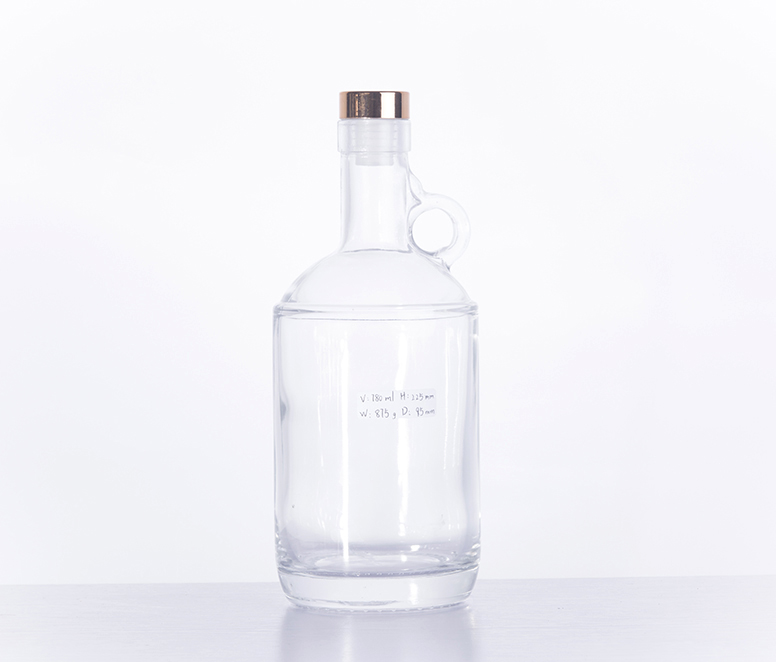 High-class 750ML Extra Flint Glass Wine Bottle Alcohol Bottle