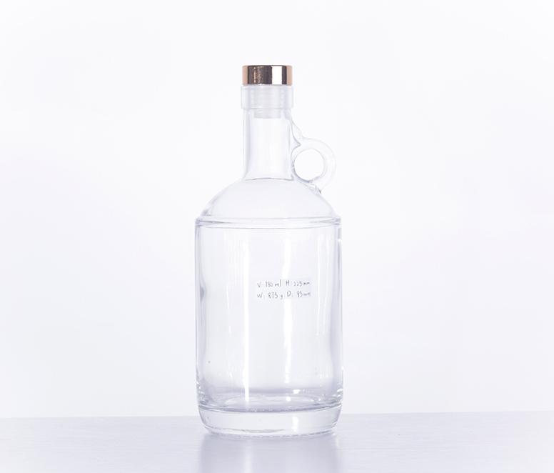 High-class 750ML Extra Flint Glass Wine Bottle Alcohol Bottle
