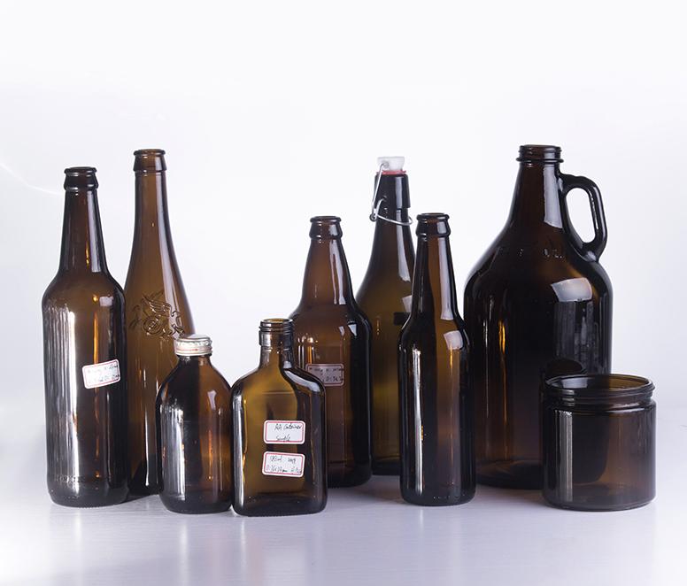330ML Custom Made Amber Glass Beer Glass Bottle