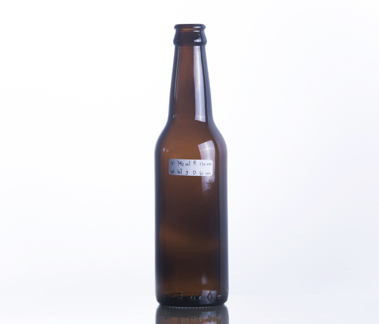 330ML Long Neck Amber Glass Beer Bottle