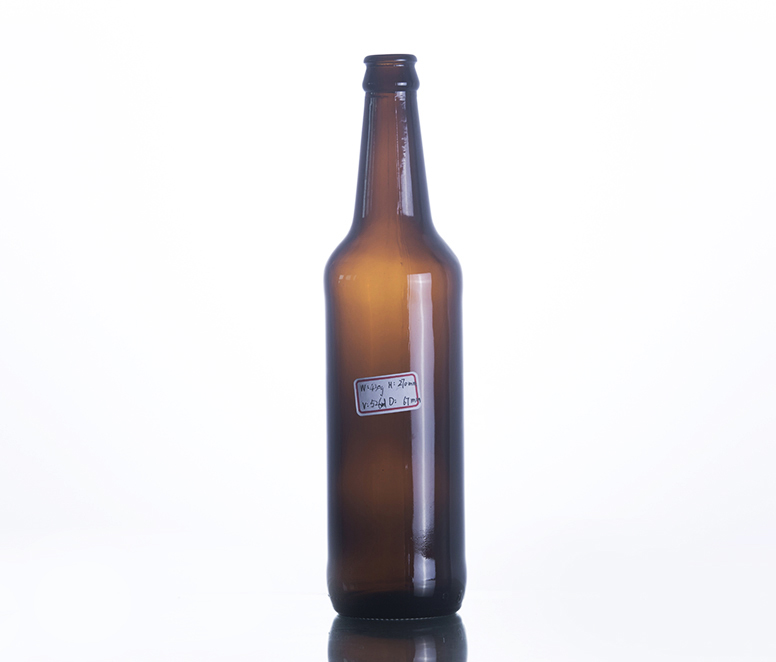 500ML Long Neck Amber Glass Beer Bottle