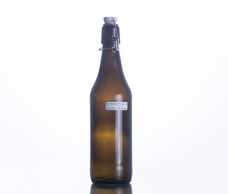 520ML Swing Top Amber Glass Beer Bottle
