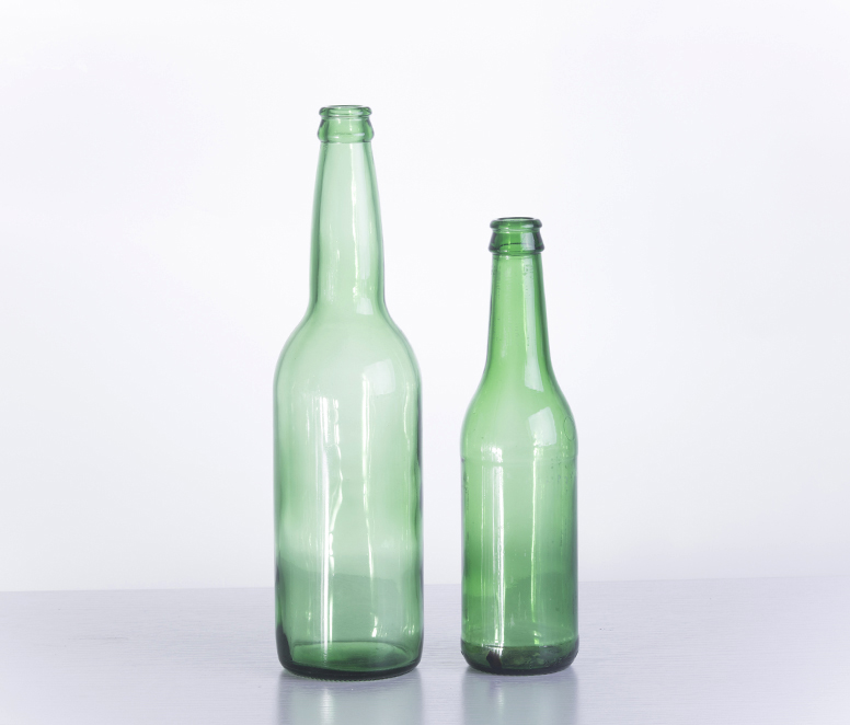 500ML Custom Made Green Glass Beer Bottle