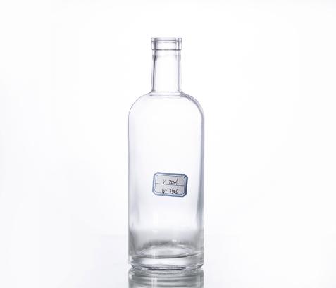 750ML Corked Glass Gin Bottle