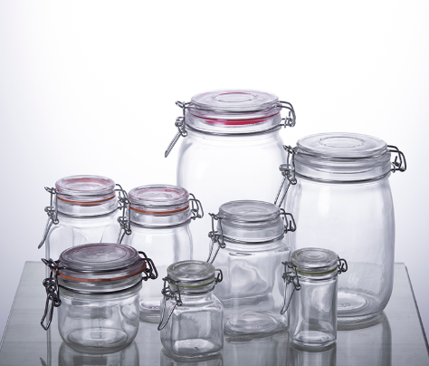 Airtight Wire Bail Glass Containers